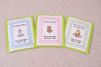 Personalized Baby Shower Tea Bag Favor Labels 2 2x2 83