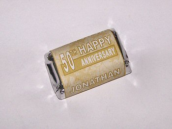 60 personalized 50th wedding anniversary candy wrapper favor labels